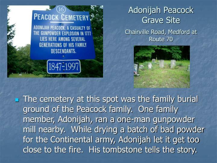 Adonijah Peacock Grave Site