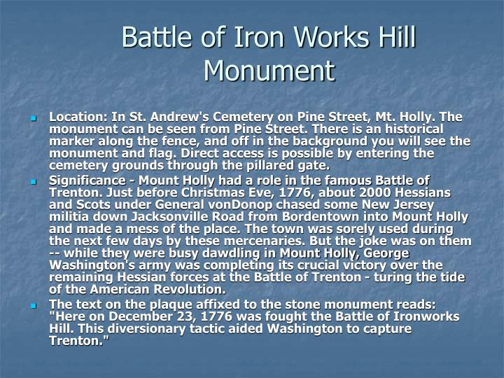 Battle of Iron Works Hill Monument