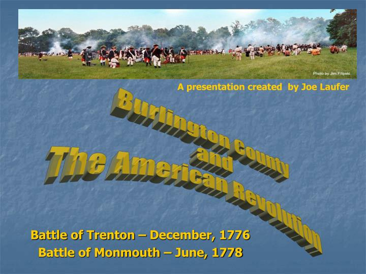 Battle of trenton december 1776 battle of monmouth june 1778