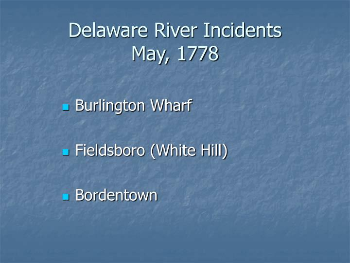 Delaware River Incidents
