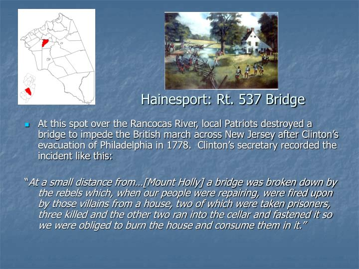 Hainesport: Rt. 537 Bridge