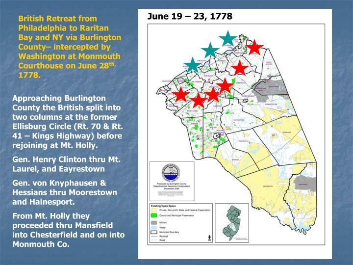June 19 – 23, 1778