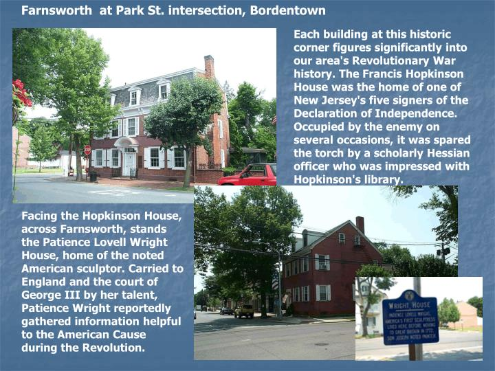 Farnsworth  at Park St. intersection, Bordentown