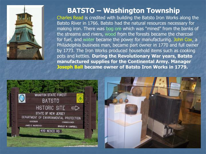 BATSTO – Washington Township