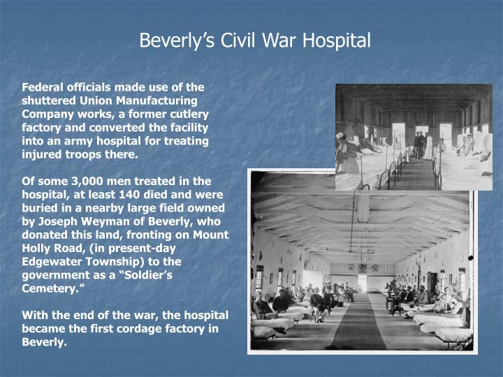 Beverly's Civil War Hospital
