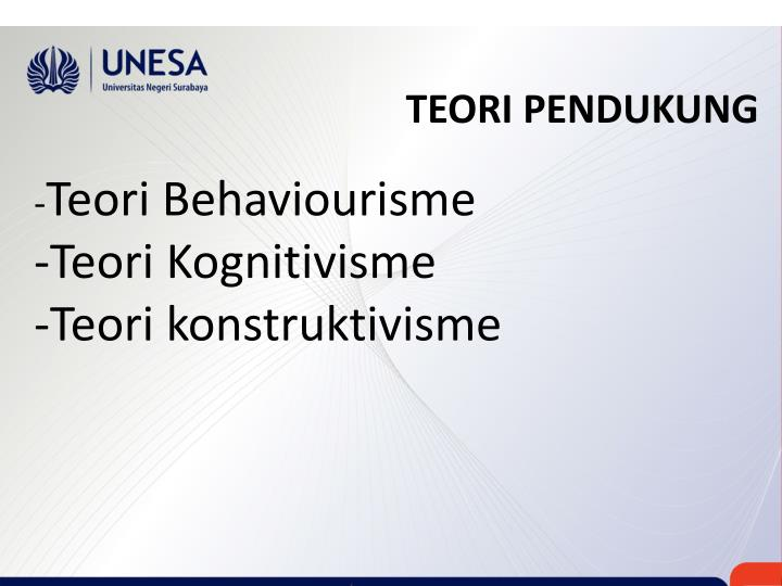 TEORI PENDUKUNG