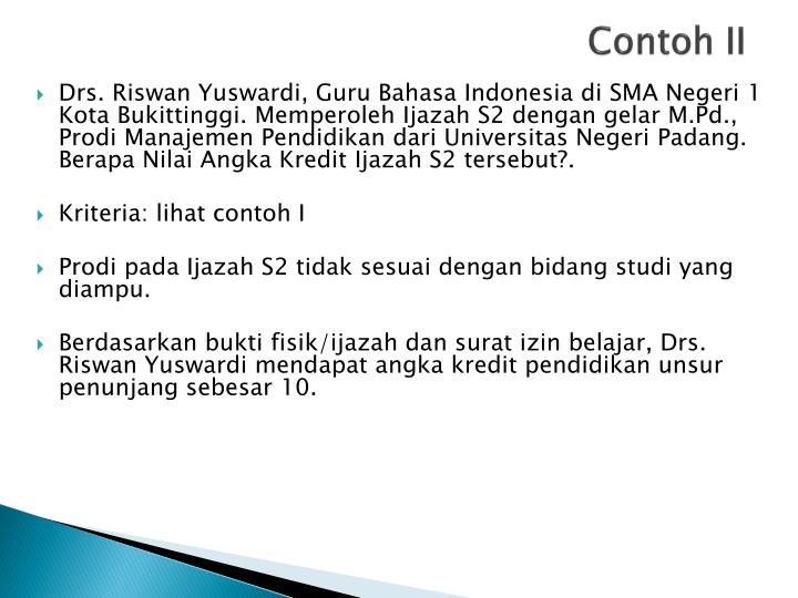 Contoh II