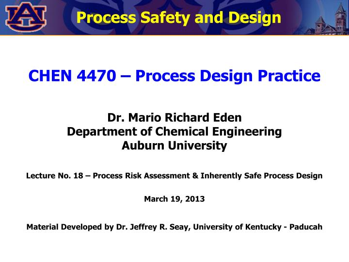 Process Safety and Design