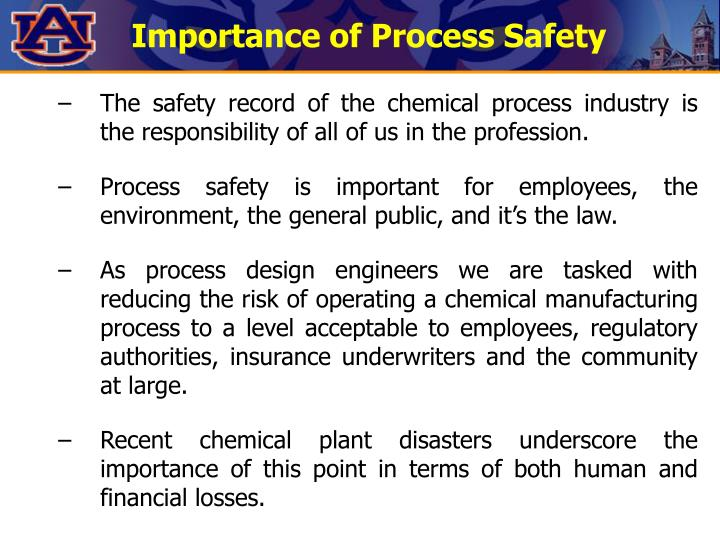 Importance of Process Safety