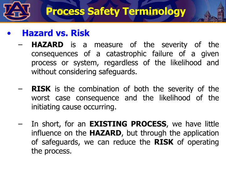 Process Safety Terminology