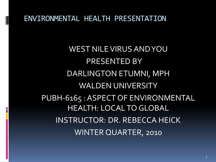 environmental health presentation
