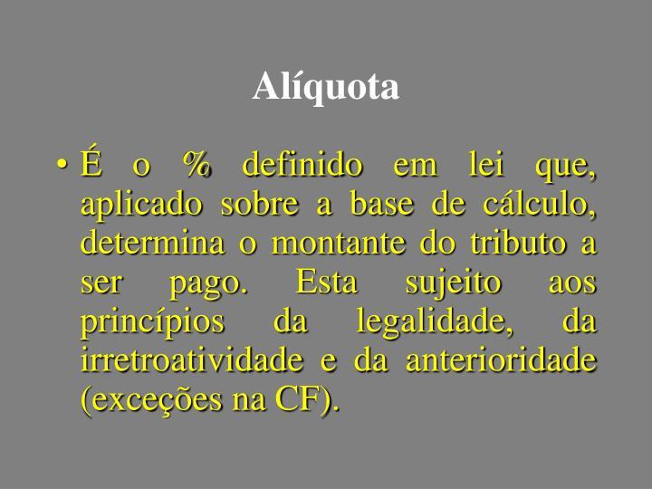 Alíquota