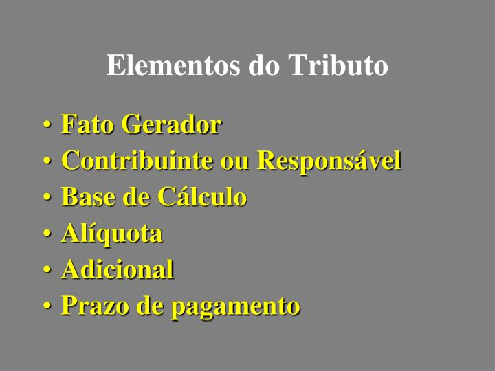 Elementos do Tributo