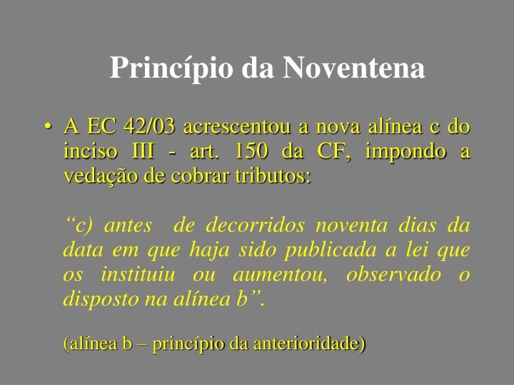 Princípio da Noventena