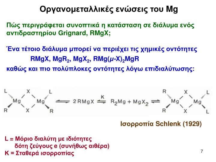 Οργανομεταλλικές ενώσεις του