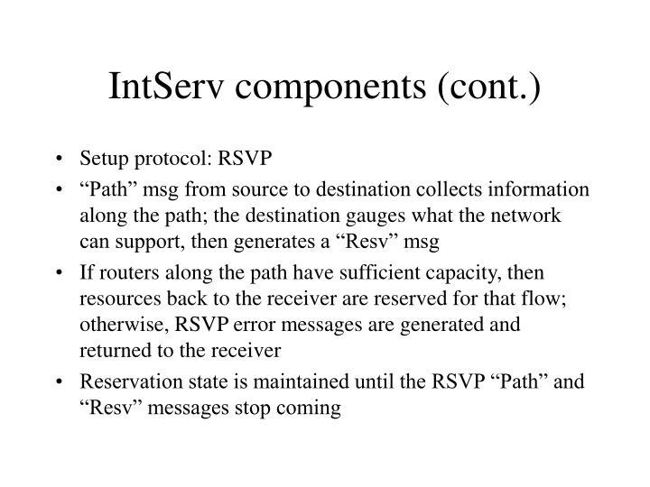 IntServ components (cont.)