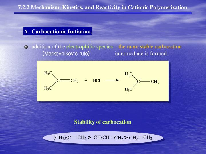 Stability of carbocation