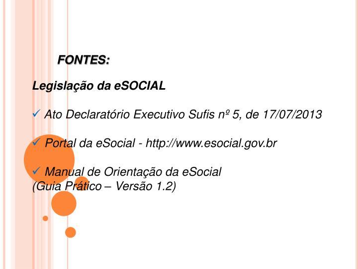FONTES: