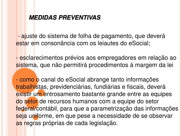MEDIDAS PREVENTIVAS