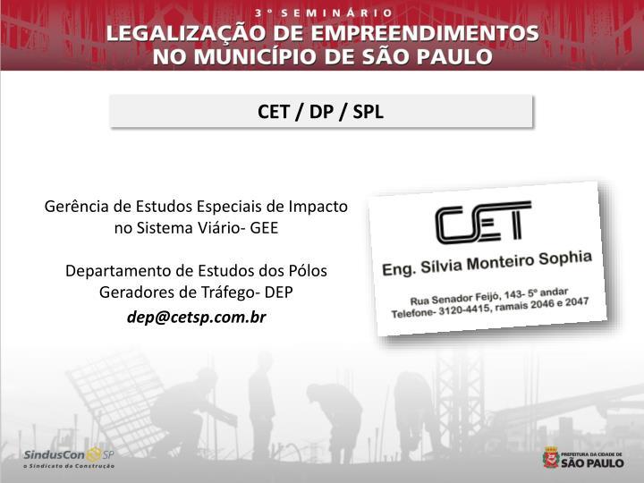 CET / DP / SPL