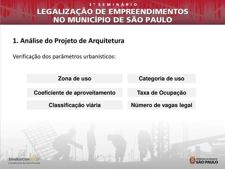 1. Análise do Projeto de Arquitetura