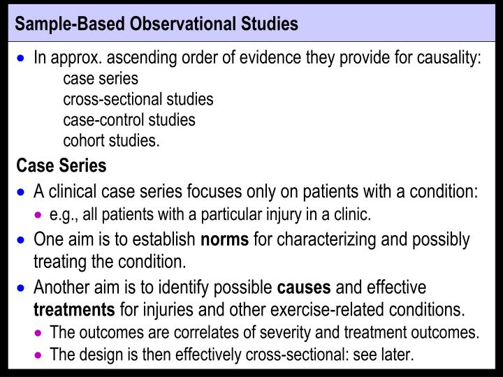 Sample-Based Observational Studies