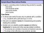 sample based observational studies