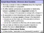 sample based studies inferences about causation