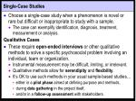 single case studies