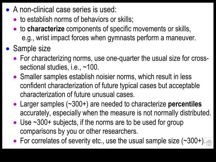 A non-clinical case series is used: