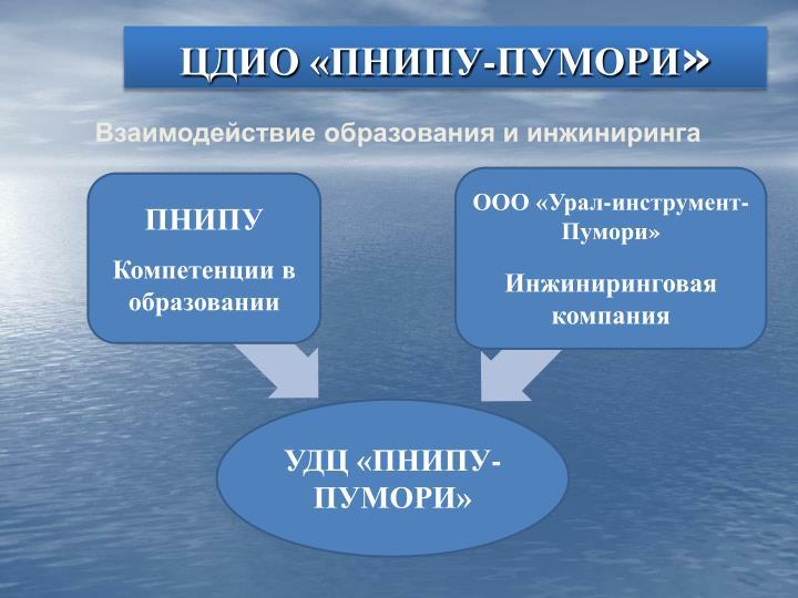 ЦДИО «ПНИПУ-ПУМОРИ