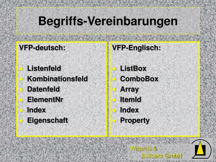 VFP-deutsch: