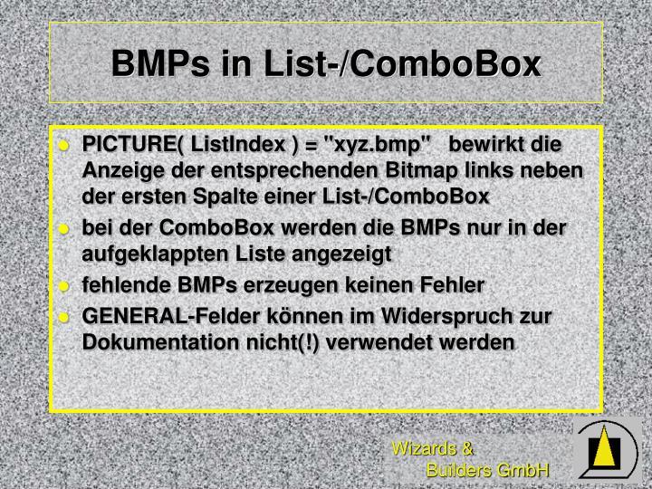 BMPs in List-/ComboBox
