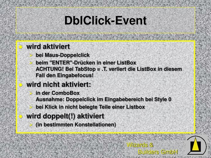 DblClick-Event