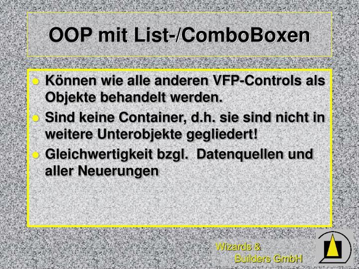 OOP mit List-/ComboBoxen