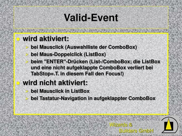 Valid-Event