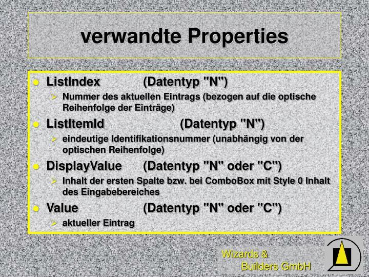 verwandte Properties