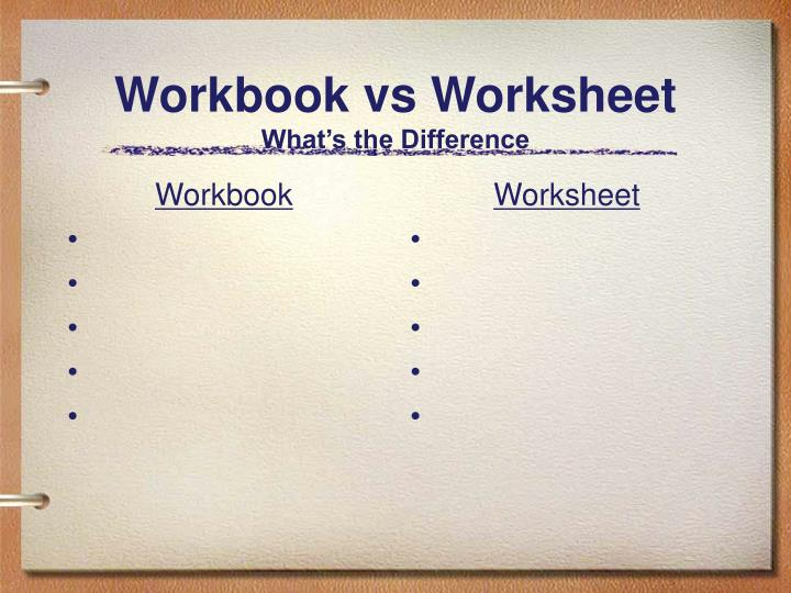 PPT Get Going With Microsoft Excel PowerPoint Presentation ID – Workbook Vs Worksheet