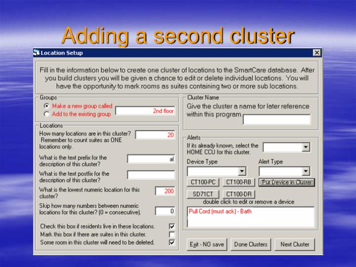 Adding a second cluster
