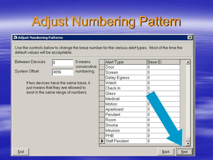 Adjust Numbering Pattern
