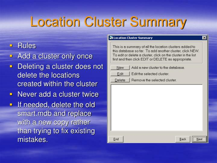 Location Cluster Summary