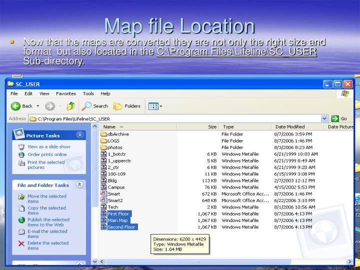 Map file Location
