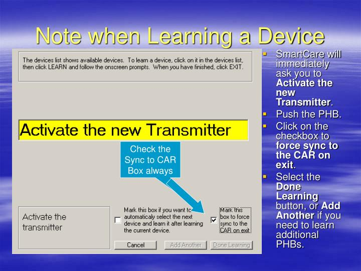 Note when Learning a Device