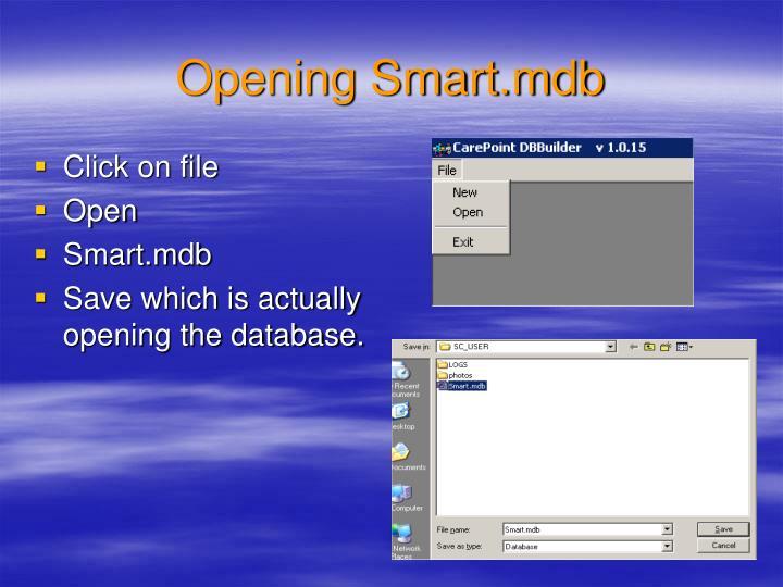 Opening Smart.mdb