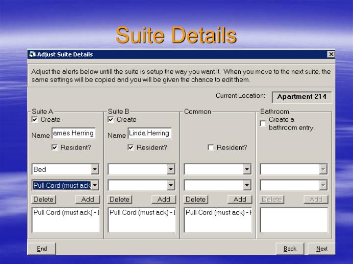 Suite Details