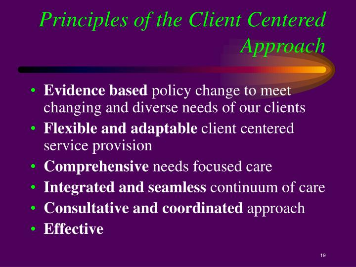 Principles of the Client Centered Approach