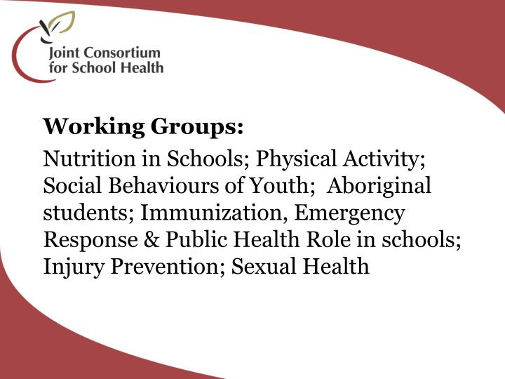 Working Groups: