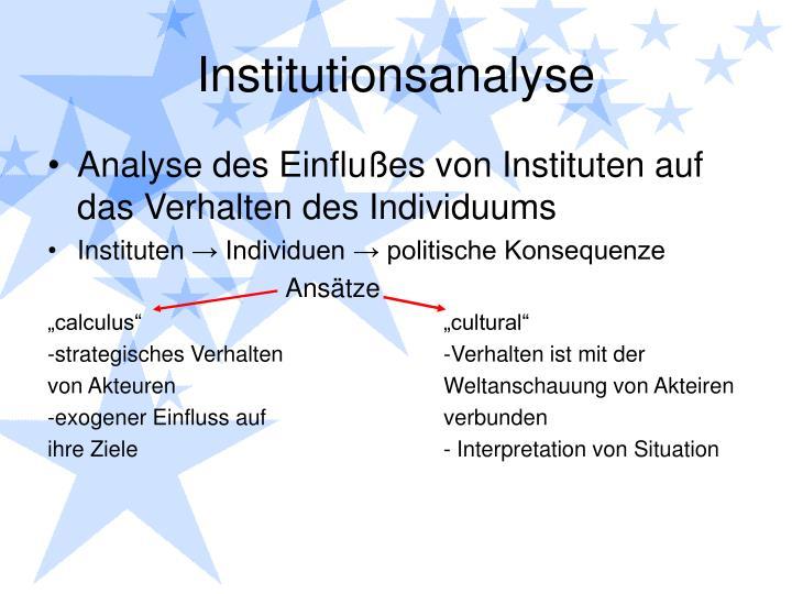 Institutionsanalyse