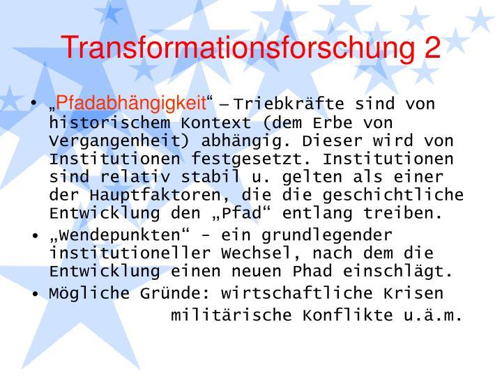 Transformationsforschung 2