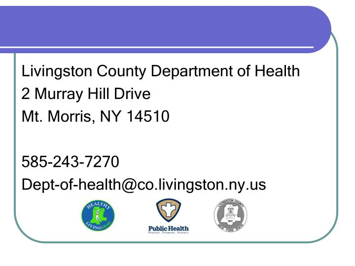 Livingston County Department of Health